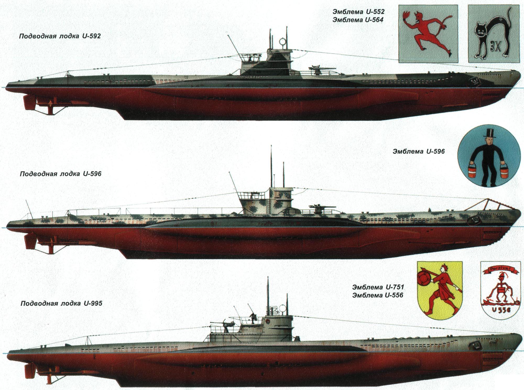 под лодки немцев